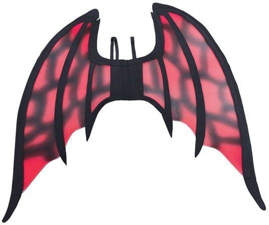 Devil Wing, Large. Red/Black (Halloween Disguises)