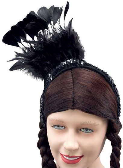 a36eed573 Buy Black Feather Sequin Headpiece (1920S , Burlesque Fancy Dress Hats) -  Largest online fancy dress range in the UK - Price Guarantee & FREE Delivery