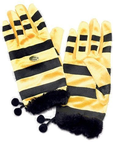 Bumble Bee Gloves (Animals Fancy Dress Gloves)