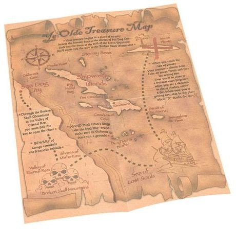 Pirate Treasure Map (Pirates Fancy Dress)