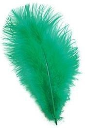 Marabou Green Feathers 12/Pkt (1920S , Burlesque Fancy Dress)