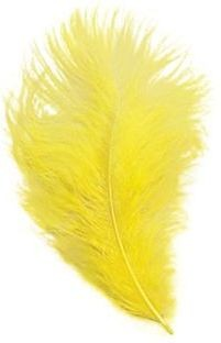 Marabou Yellow Feathers 12/Pkt (1920S , Burlesque Fancy Dress)