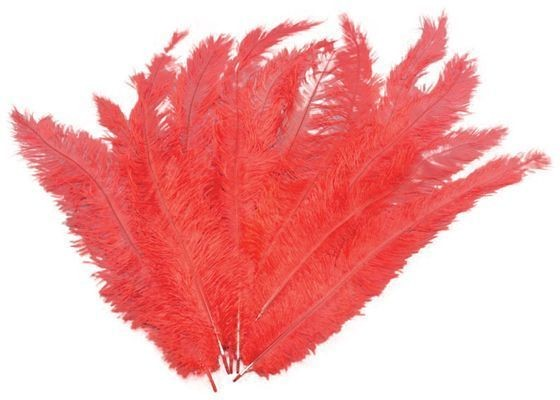 Blondine Feather. Red 12/Pkt (1920S , Burlesque Fancy Dress)