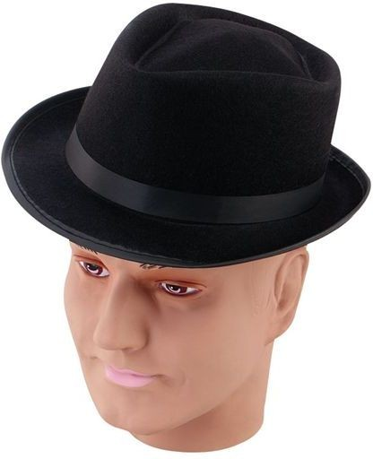 Blues Best Felt Hat. Black (1950S , 1920S Fancy Dress Hats)