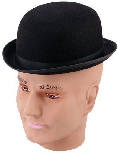 Bowler - Black Helt Hat. Small (1920S , Old English Fancy Dress Hats)