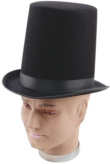 Stovepipe Top Hat.Black Best (1920S , Old English Fancy Dress Hats)