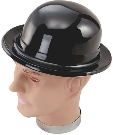 Black Bowler Hats Plastic (1920S , Old English Fancy Dress Hats)