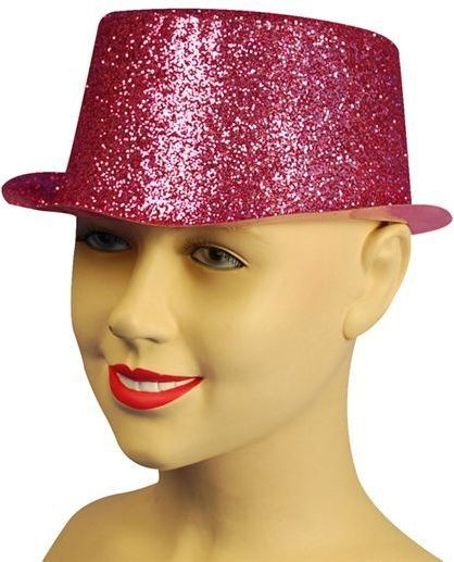 Glitter Cerise Toppers, Plastic (1920S Fancy Dress Hats)
