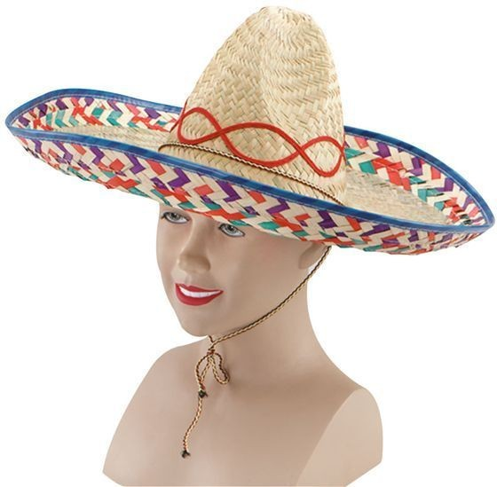 Mexican Straw Sombrero (Cultures Fancy Dress Hats)