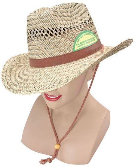 Straw Aussie Cowboy Hat (Cowboys/Indians Fancy Dress Hats)