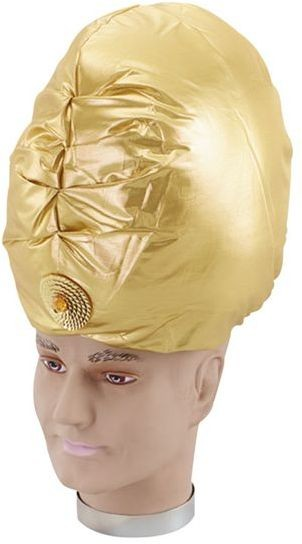 Genie Turban. Gold (Cultures Fancy Dress Hats)