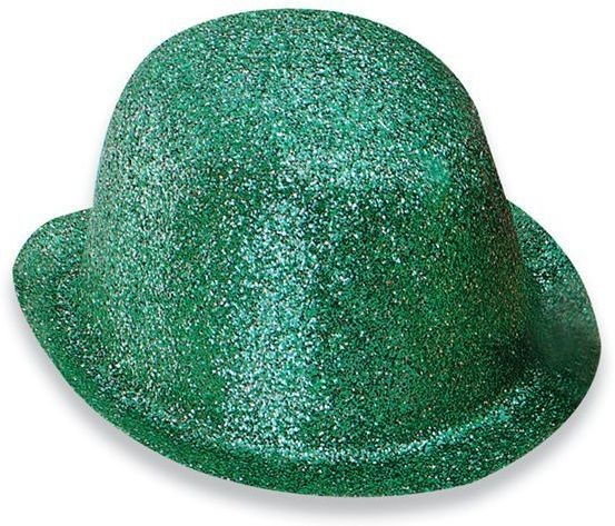 Glitter Green Plastic Bowler (1920S , Clowns Fancy Dress Hats)