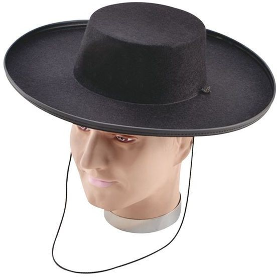 Bandit Hat - Adult. Best Felt (Cultures Fancy Dress Hats)