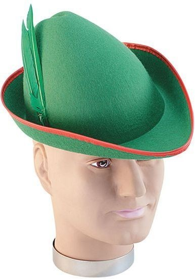 Robin Hood Felt Hat. (Medieval , Fairy Tales Fancy Dress Hats)