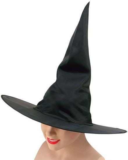 Witch Hat. Black Nylon Plain (Halloween Hats)