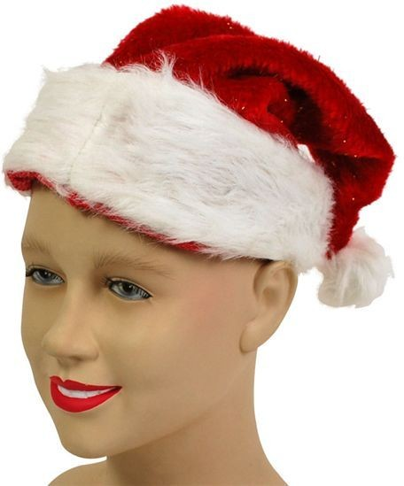 Santa Hat. Plush Glitter (Christmas Hats)