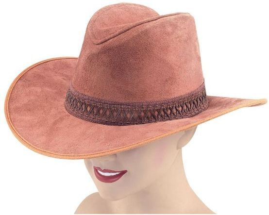 Cowboy Hat Deluxe Brown Tint (Cowboys/Native Americans Fancy Dress Hats)