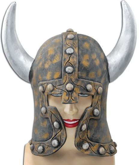 Warrior Style Helmet & Horns (Viking Fancy Dress Hats)
