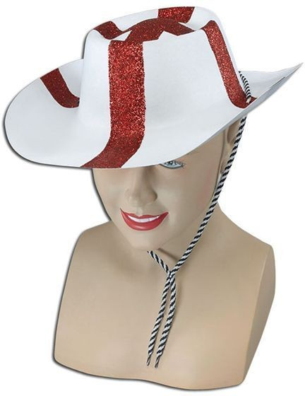 St George Flock Cowboy Hat (Cowboys/Native Americans Fancy Dress Hats)