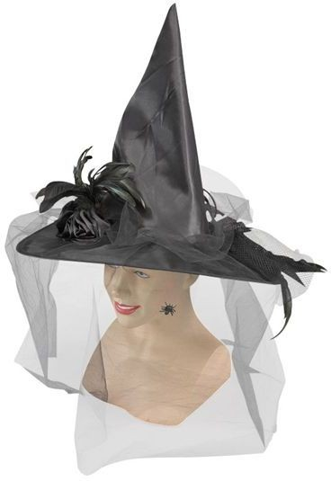 Witch Hat, Fancy. Black (Halloween Hats)
