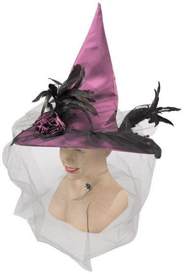 Witch Hat, Fancy, Purple (Halloween Hats)