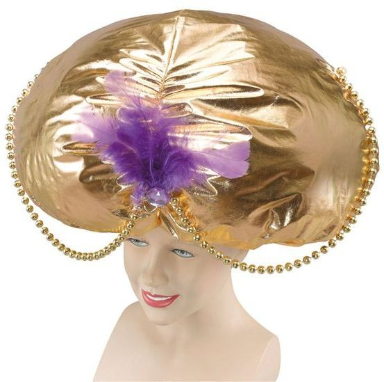 Jumbo Aladdin Hat. Gold (Cultures , Fairy Tales Fancy Dress Hats)