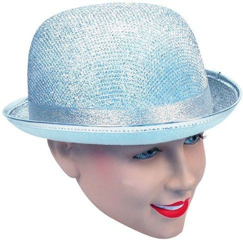 Bowler Hat Silver Lurex (1920S , Clowns Fancy Dress Hats)