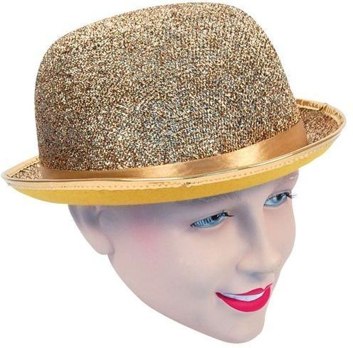 Bowler Hat Gold Lurex (1920S , Clowns Fancy Dress Hats)