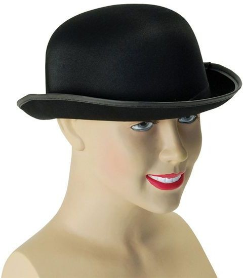 Bowler Hat. Black Satin Finish (1920S Fancy Dress Hats)