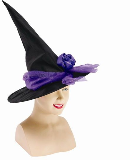 Witch Hat + Ribbon. Purple (Halloween Hats)