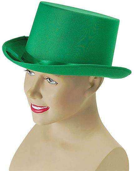 Top Hat. Green (1920S Fancy Dress Hats)