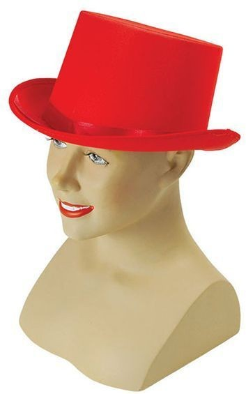 Top Hat. Red Satin (1920S Fancy Dress Hats)