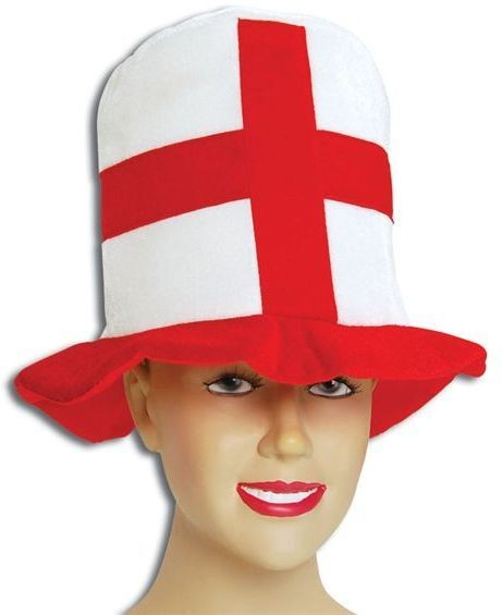 St George Soft Felt Top Hat (Cultures Fancy Dress Hats)