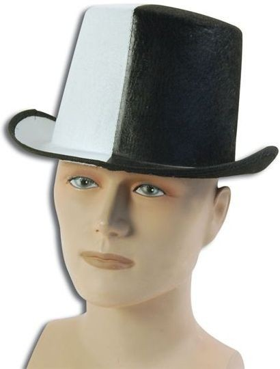 Top Hat. Black/White (1920S , Old English Fancy Dress Hats)