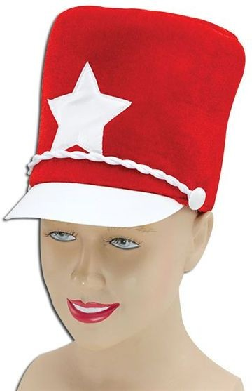 Majorette Hat. Red Soft Felt (Sport Fancy Dress Hats)