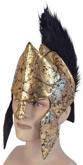 Spartan Helmet. Soft (Greek , Roman Fancy Dress Hats)