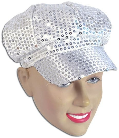 Sequin Cap. 80'S Style Silver (1970S Fancy Dress Hats)