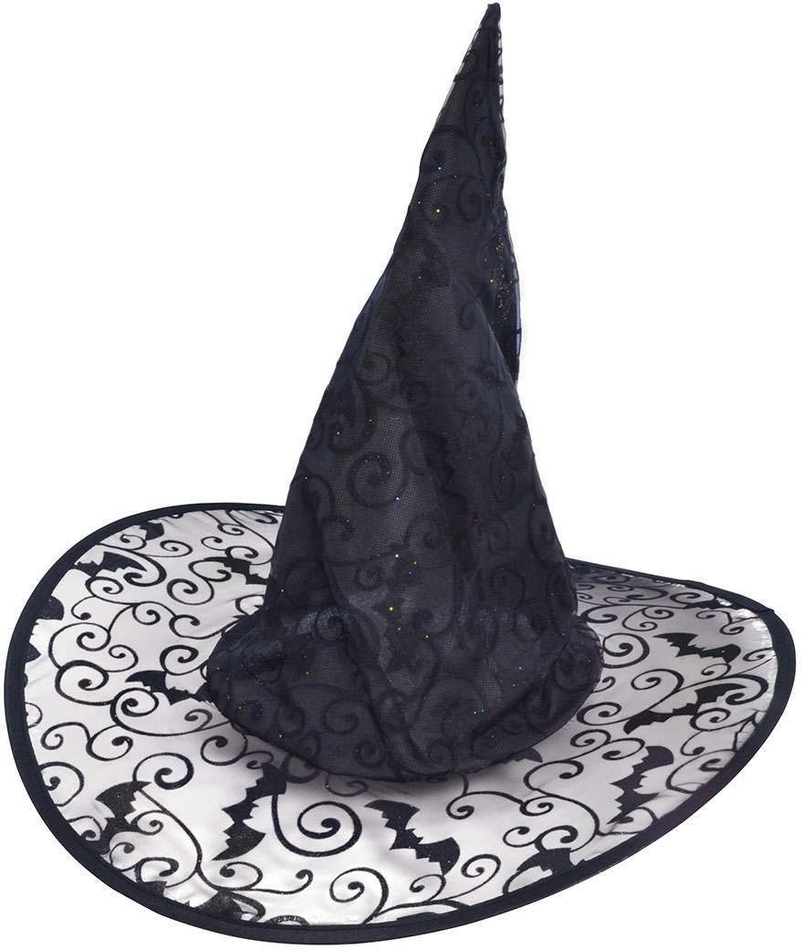 Ladies Witch Hat (Bat Design)