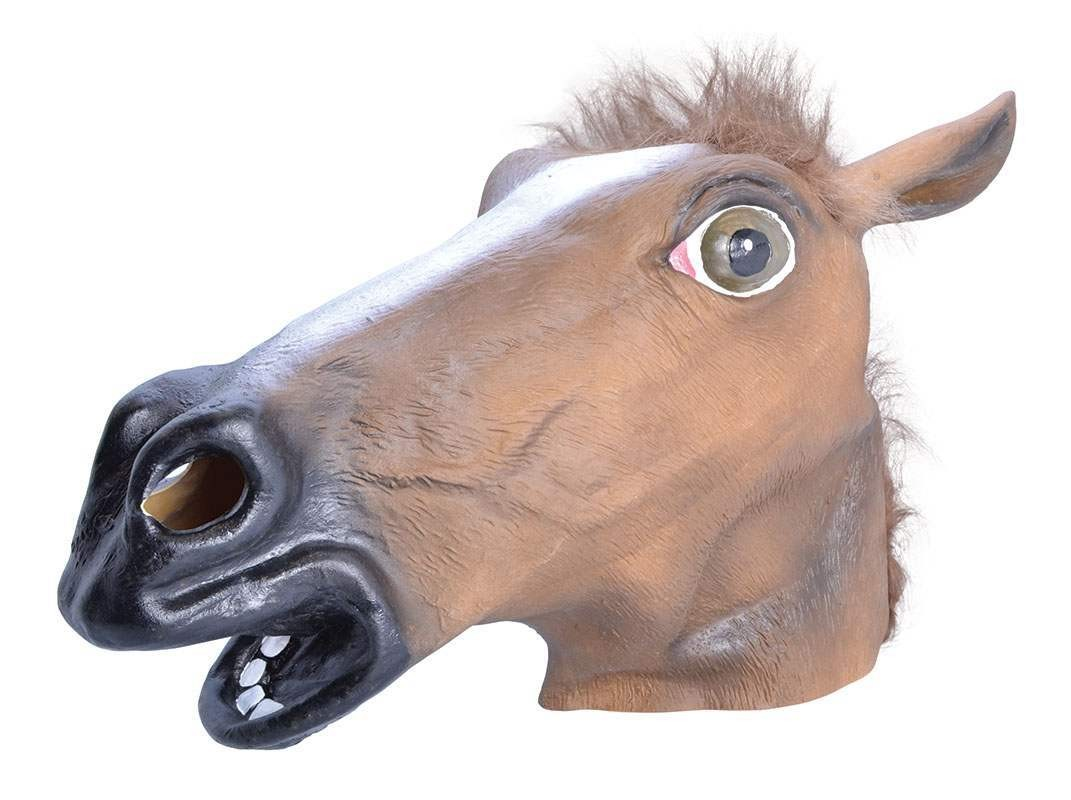 Horse. Brown, Budget Rubber Mask