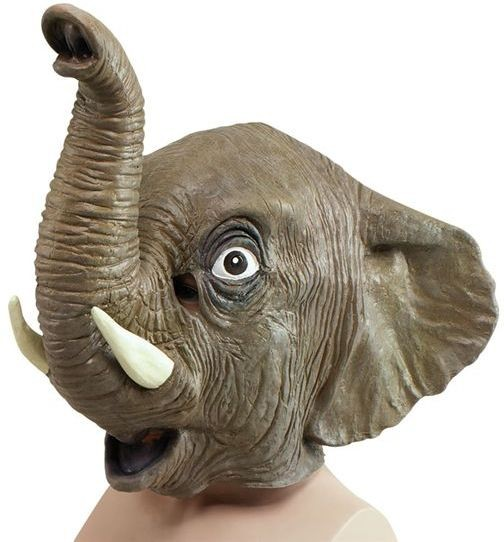 Animal Rubber O'Head Mask. Elephant (Animals Fancy Dress Masks)