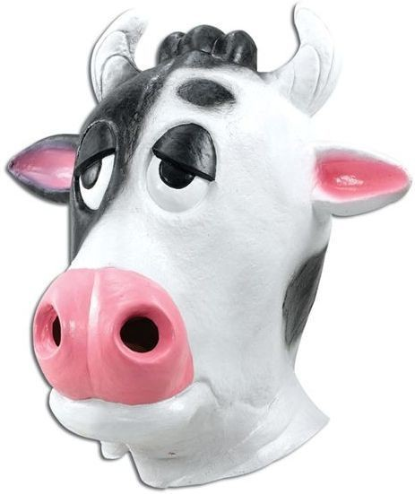 Cow Mask Comical. Black/White (Animals Fancy Dress Masks)
