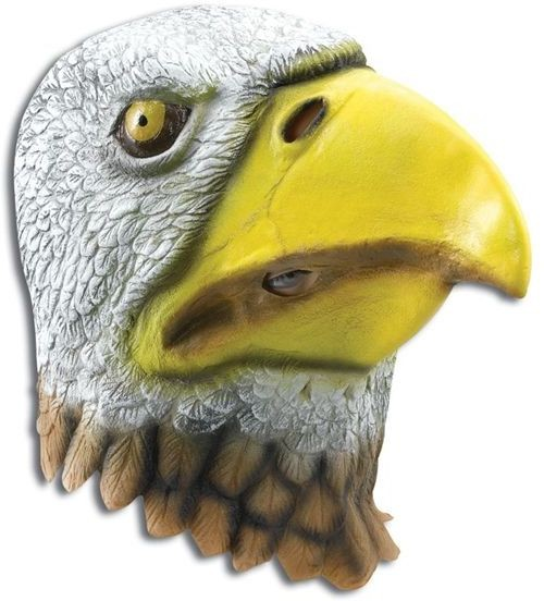 Eagle Bird Mask. Rubber Overhead (Animals Fancy Dress Masks)