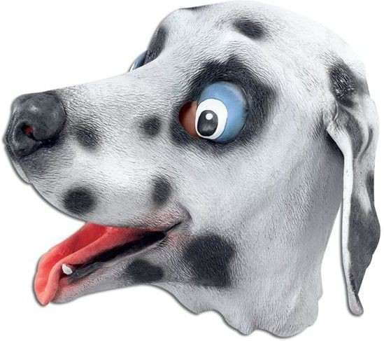 Dalmation Rubber Overhead Mask (Animals Fancy Dress Masks)