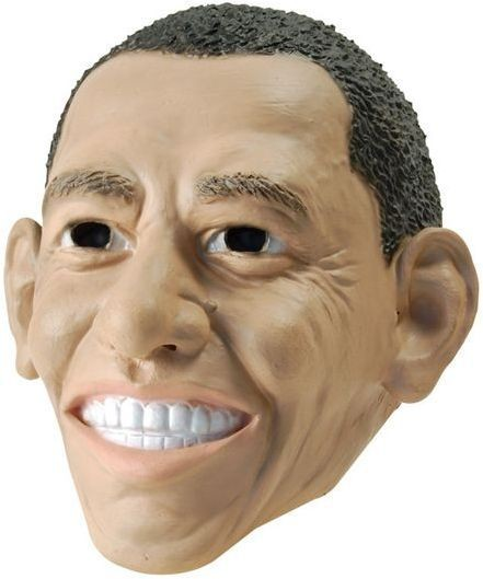 President Obama Rubber Mask (Cultures Fancy Dress Masks)