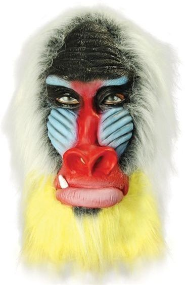 Baboon. Rubber, Overhead (Animals Fancy Dress Masks)