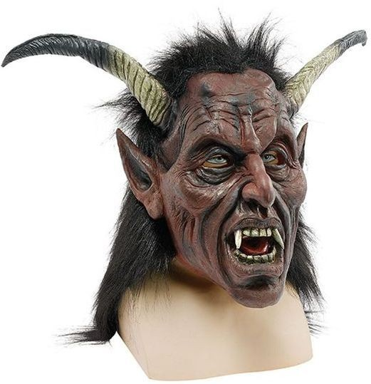 Devil. Long Horns + Hair (Halloween Masks)