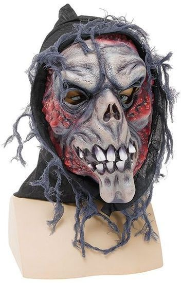Hooded Ghost Skull Mask (Halloween Masks)