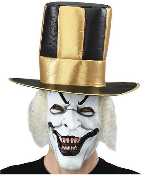 White Demon Mask + Top Hat (Halloween Masks)