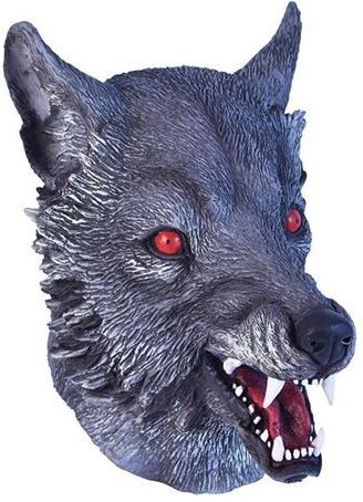 Wolf Mask. Grey Realistic (Animals , Halloween Masks)