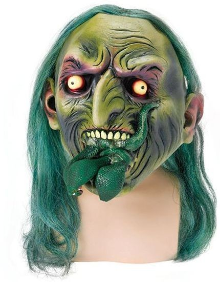 Zombie Witch And Snake (Halloween Masks)